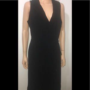 Ann Taylor Black Sleeveless Midi Wrap Dress New